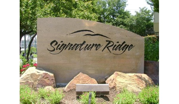 MON020 - Custom Monument Sign for Property Management