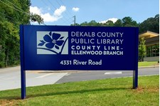 Post & Panel Sign | DeKalb County Public Librarys | Ellenwood, GA